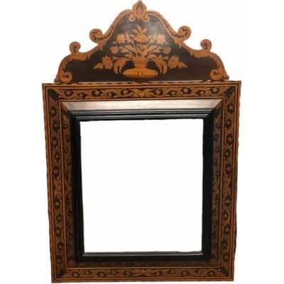 Grand Miroir De Style Marqueté H 139 Cm