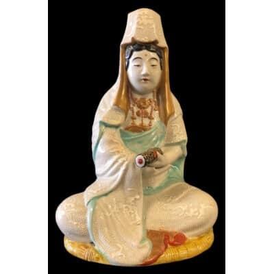 Bouddha En Porcelaine Du Japon Fin XIXème Ou Début XXème
