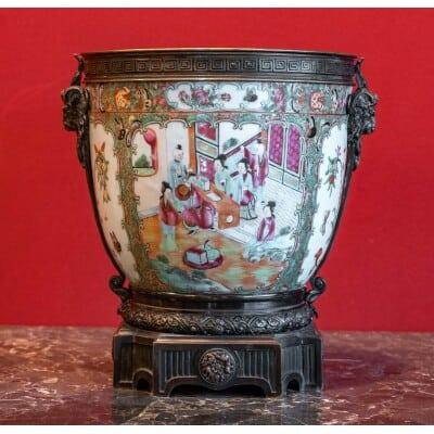 Cache Pot en CANTON (XIXème siècle )