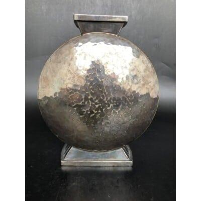 Christofle – Vase Art Deco Métal Argenté Vers 1930