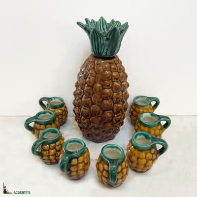 Service à liqueur ananas, haut. 21 cm, (1950-1960)