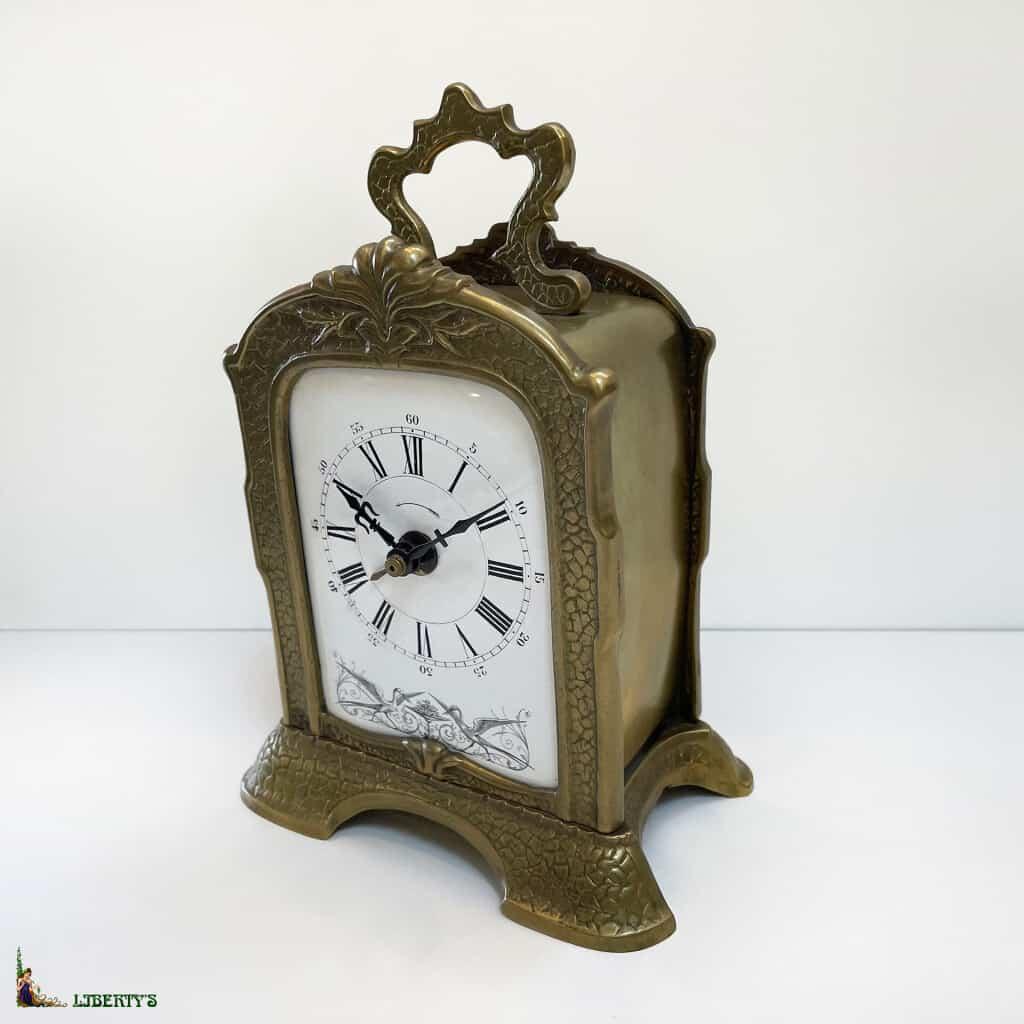 Réveil bronze Art Nouveau, haut. 19.5 cm, (Fin XIXe) - 2
